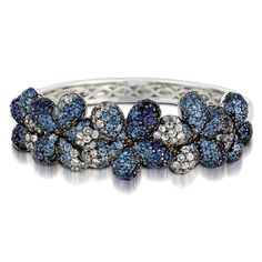 Le Vian #sapphire flower bangle #bracelet @Le_Vian