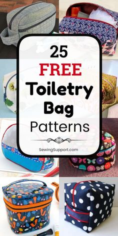 Free Toiletry Bag Patterns Bag patterns to sew. 25 Free Toiletry Bag Patterns, diy projects, and sewing tutorials. Zipper Free Toiletry Bag Patterns Bag patterns to sew. 25 Free Toiletry Bag Patterns, diy projects, and sewing tutorials. Diy Sewing Projects, Sewing Projects For Beginners, Sewing Hacks, Sewing Tutorials, Sewing Tips, Makeup Bag Tutorials, Sewing Ideas, Makeup Ideas, Bag Patterns To Sew