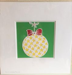 Christmas Papercut  Colourful Bauble by SundayApplePapercuts