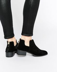 Pull&Bear Ankle Boots With Tassel Detail