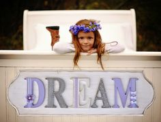 Adorable Dream wall plaque for a child's room <3