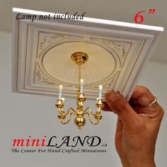 If you decide not to install a lamp, there is a cap that covers the hole. The design is extremely user friendly and can be installed by a novice miniaturist. If you wish to install a light, there is a hole at the top of the unit where you can place any of our light. | eBay!