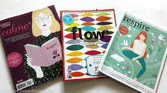 3 Magazines pour écrire et créer Flow Magazine, Old And New, Magazines, Books, Diy, Illustrations, Bubble, Cherry Cake, Notebooks