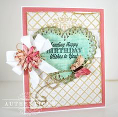 """Natural"" Card by Authentique Paper Design Team Member Eva Dobilas"