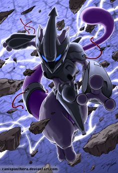 One day I wish to draw mewtwo this well. >>>The Experiment by CanisPanthera.deviantart.com on @deviantART (Mewtwo)