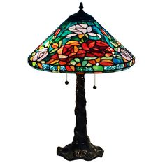 Amora Lighting Tiffany-style Roses Design Table Lamp