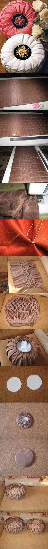 Fabric manipulation pillow