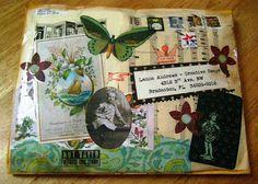 creative swaps: Linda Freeman: Vintage note card swap!