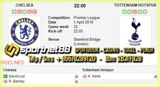 Prediksi Skor Bola Chelsea vs Tottenham Hotspur 1 Apr 2018 Liga Primer Inggris pada hari Minggu jam 22.00 WIB di Stamford Bridge (London). Dan akan disiarkan langsung di Beinsport 1.
