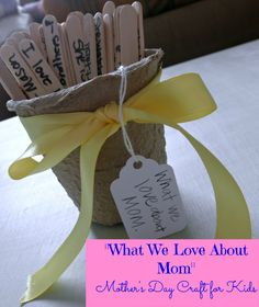 Simple Mother's Day Craft For Kids #whatmeeganmakes