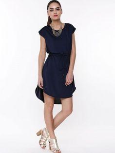 d5701a732ef2cd KOOVS Drawstring High Low Hem Dress buy from koovs.com High Low Hem Dresses