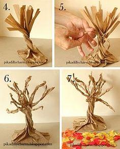 DIY Paper Bag Fall Tree