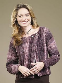 Knitting side to side cardigans can be fun and allow foreasy  striping patterns in a finished sweater. Or crochet or knitthe cardisidew...