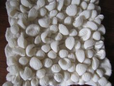 Tied and felted lace weight yarn knit sample by Modern Fiber Lab - Sonya Yong James, via Flickr