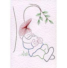 Stitching Cards Gnome Sleeping