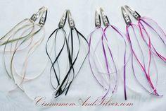 Princess Ribbon Hair Clip Cheerleader by CinnamonandSilver on Etsy