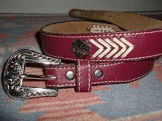 6dbcb460eeb2 Circle Y 1994 Concho Laced Western Cowboy Belt Men s or Women s Size 28 30    eBay · Wild WestCeinturesWesternes