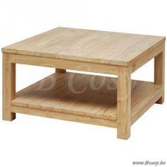 ll-exq500-Exquise Moderne vierkante salontafel in Teak met 2 niveaus 100 EXQ 500