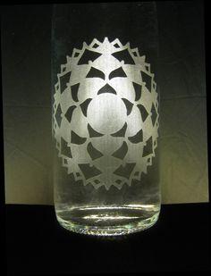 Have an idea or design? Let us #etch it for you! #Crown #Chakra #Etched #Glass #Water #Bottle #BottlenSoul  www.bottle-n-soul.com www.etsy.com/shop/BottlenSoul
