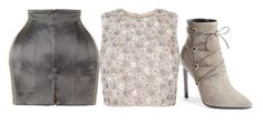 Blush & Grey by carolineas on Polyvore featuring polyvore, fashion, style, Balmain, Yves Saint Laurent and clothing