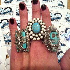The Texas Cowgirl - Turquoise Statement Rings, (http://www.thetexascowgirl.com/turquoise-alley-ring/)