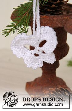 Angelo di Natale DROPS in Cotton Viscose da appendere sull'albero di Natale.
