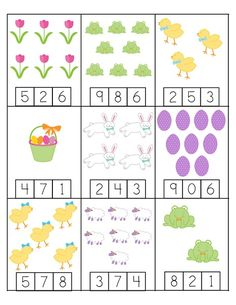 Spring Printables for Kıds - Counting Activities For Preschoolers, Drawing Sheet, Games For Kids, Children Games, Kindergarten Math, Booklet, Fun Crafts, 1, Kids Rugs