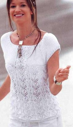 Items similar to On Sale Hand Knit White top Lace Pattern With Leaf pattern from Cotton Yarn Made to order Custom Orders Accepted on Etsy Lace Knitting Patterns, Hand Knitting, Summer Knitting, Crochet Clothes, White Tops, Knit Crochet, Knit Lace, Trending Outfits, Yandex Disk