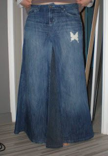 jean recycl on pinterest jeans denim bag and jean skirts. Black Bedroom Furniture Sets. Home Design Ideas