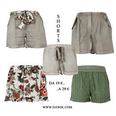 Shorts, summer, warm. Some news on www.hawik.com