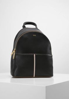 "HUGO. BRIGIDA - Rucksack - black. Fastening:Zip. Compartments:mobile phone pocket. length:10.0 "" (Size One Size). width:5.0 "" (Size One Size). Lining:Cotton. carrying handle:3.0 "" (Size One Size). Outer material:leather. height:12...."