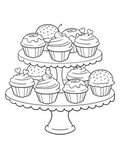 Get the coloring page Cupcakes 50 Printable Adult Coloring Pages That Will Make You Feel Like a Kid Again is part of Food coloring pages - Get the coloring page Cupcakes Cupcake Coloring Pages, Wedding Coloring Pages, Food Coloring Pages, Birthday Coloring Pages, Printable Adult Coloring Pages, Christmas Coloring Pages, Free Coloring, Coloring Pages For Kids, Coloring Sheets