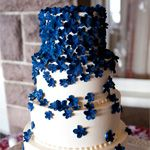 This blue sugar floral cake from The Knot is undoubtedly one of our favorites! More blue wedding cake ideas: http://bit.ly/ycMfQZ