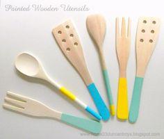 painted utensils