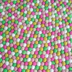 Stunning range of Felt Ball Rugs designed in Australia using the most beautiful quality felt balls, custom oredrs welcome and each rug comes with a free garland. Felt Ball Rug, Sprinkles, Garland, Rugs, Design, Farmhouse Rugs, Garlands, Rug