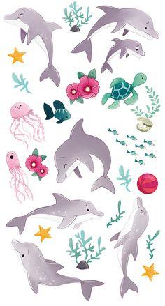 Il lustrati on©emmanuelle colin chez Avenue Mandarine prochainement. Cartoon Dolphin, Cartoon Sea Animals, Dolphin Drawing, Dolphin Art, Cartoon Drawings, Animal Drawings, Cute Drawings, Art And Illustration, Galaxy Phone Wallpaper