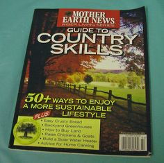Mother Earth News Guide Country Skill Substainable DIY Farm Rural Free Shipping
