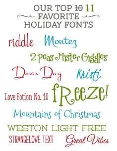 10 holiday fonts lilsproutgreetings.com  791x1024 Our top 11 favorite holiday fonts