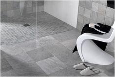 white mosaic floor tiles wet room shower - Google Search