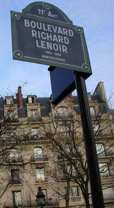 Le boulevard Richard-Lenoir (Paris 11ème).