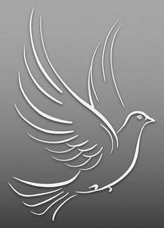Dove – Art & Islamic Graphics Fabric Painting Tutorial: In this particular tutorial we'll provide yo Bird Stencil, Stencil Art, Stencils, Stencil Patterns, Stencil Designs, Cut Out Art, Bird Silhouette, Black Silhouette, Animal Graphic