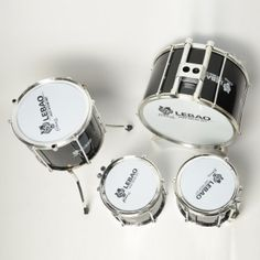Clearance 9pcs 9010 Metal Jazz Drum Set Black