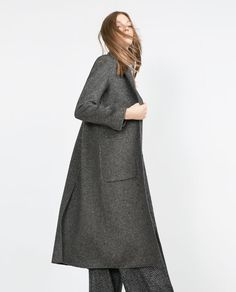 Discover the new ZARA collection online. Winter Wear, Autumn Winter Fashion, Langer Mantel, Outerwear Women, Coats For Women, Lana, High Neck Dress, Dresses For Work, Street Style