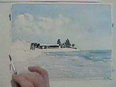 ▶ Nice demo of watercolor seascape. - YouTube