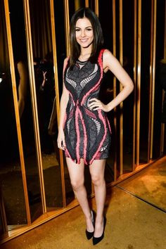 Victoria Justice in Herve Leger by Max Azria at the BCBG Max Azria and Herve Leger part at New York Fashion Week on February Victoria Justice, Vicky Justice, Glamour Fashion, Herve Leger Dress, Ny Fashion Week, Beautiful Celebrities, Young Celebrities, Gorgeous Women, Outfits