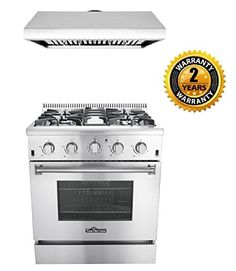 Thor Kitchen 2Piece Kitchen Package with 30 Pro Style 4 Burner Stainless Steel Gas Range and 30 Under Cabinet Range Hood Stainless Steel * You can find out more details at the link of the image. (This is an affiliate link) #KitchenGasStove