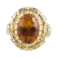 """Bishop's Ring"" with 13Ct Citrine"