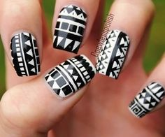 aztec nail art desingn