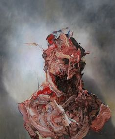 The expressionist work of British artist Antony Micallef layers the figure to the point of total distortion. His style of painting misshapen figures against soft backdrops is an amalgamation of. Art Sinistre, Ap Art, Creepy Art, Weird Art, Arte Horror, Horror Art, Painting Inspiration, Art Inspo, Portrait Art