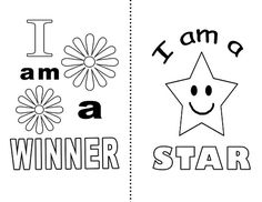 Printable motivational cards that are coloring pages for kids too! Affirmation Karten, Affirmation Cards, Positive Self Esteem, Positive Self Talk, Counseling Activities, Therapy Activities, Therapy Worksheets, Affirmations For Kids, Positive Affirmations